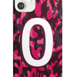 Dark Pink Camo Solid Monogram iPhone Case by Case Warehouse ®
