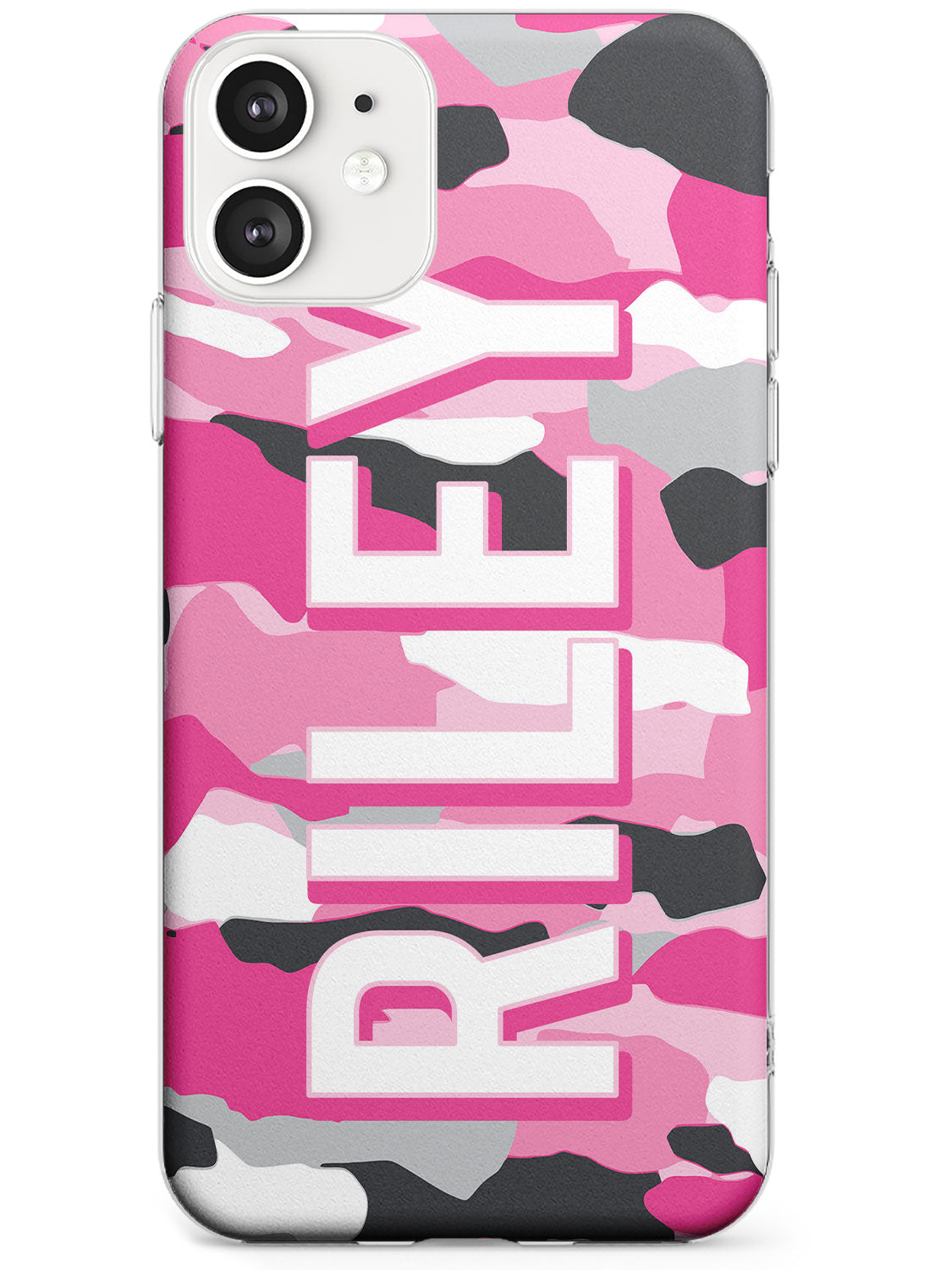 Pink & Grey Camo iPhone Case by Case Warehouse ®