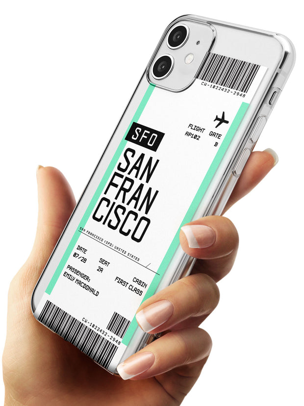 San Francisco Boarding Pass iPhone Case   Custom Phone Case - Case Warehouse