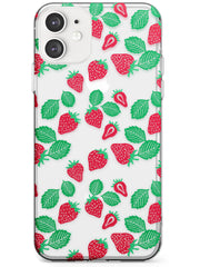 Strawberry Pattern iPhone Case  Slim Case Phone Case - Case Warehouse