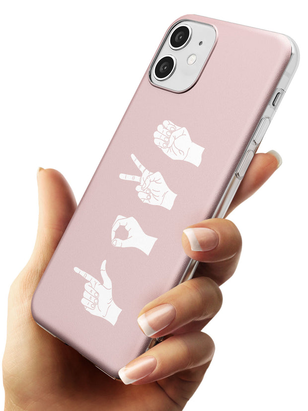 LOVE Sing Language Slim TPU Phone Case for iPhone 11