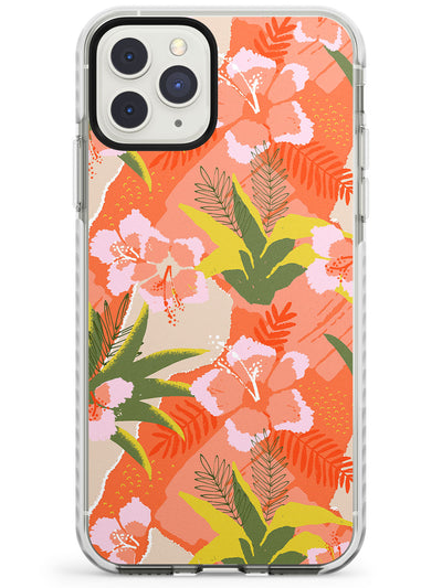 Hawaiian Flowers Abstract Pattern iPhone Case  Impact Case Phone Case - Case Warehouse