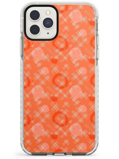 Orange Checks Abstract Pattern iPhone Case  Impact Case Phone Case - Case Warehouse