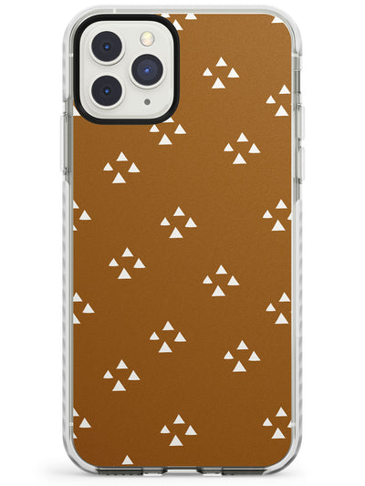 Boho Chic Patterns: White Triangles Impact Phone Case for iPhone 11 Pro Max
