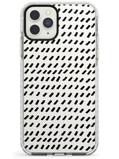 Hand Drawn Lines Pattern Impact Phone Case for iPhone 11 Pro Max