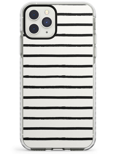 Messy Horizontal Lines Impact Phone Case for iPhone 11 Pro Max