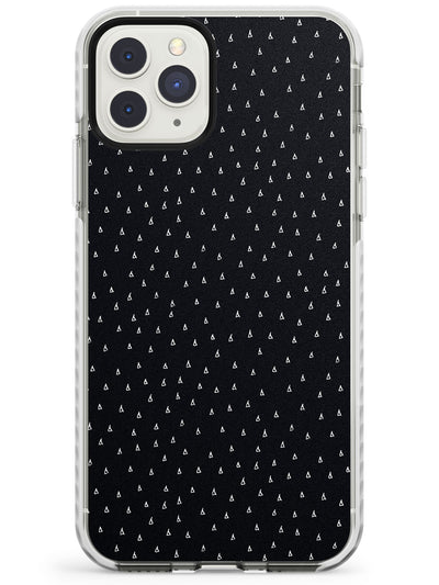 Tiny Triangles Pattern in Black Impact Phone Case for iPhone 11 Pro Max