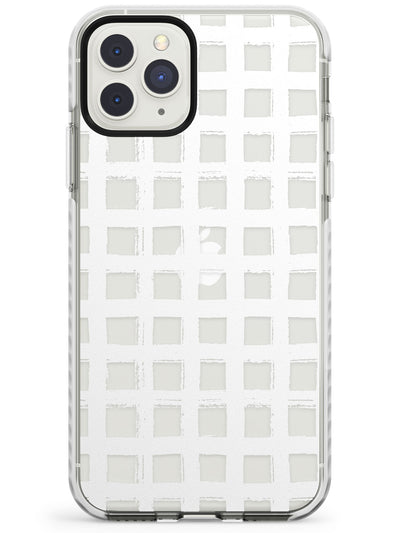Chic White Grid Impact Phone Case for iPhone 11 Pro Max