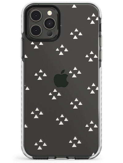 Triangle Cluster Pattern - White & Clear Slim TPU Phone Case for iPhone 11 Pro Max