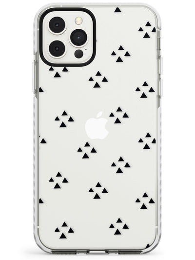 Triangle Cluster Pattern - Black & Clear Impact Phone Case for iPhone 11 Pro Max