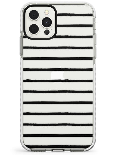 Messy Black Stripes - Clear Slim TPU Phone Case for iPhone 11 Pro Max