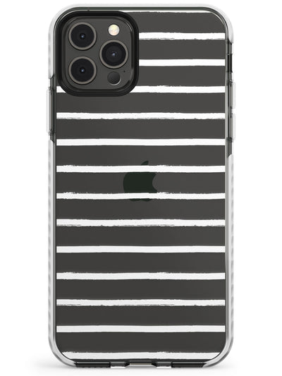 Messy White Stripes - Clear Slim TPU Phone Case for iPhone 11 Pro Max