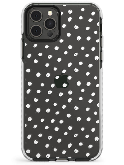 Messy White Dot Pattern Slim TPU Phone Case for iPhone 11 Pro Max