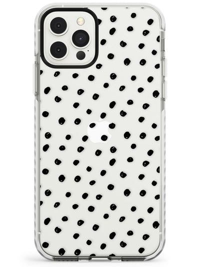 Messy Black Dot Pattern Slim TPU Phone Case for iPhone 11 Pro Max