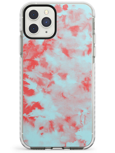 Red & Blue Acid Wash Tie-Dye Pattern Impact Phone Case for iPhone 11 Pro Max