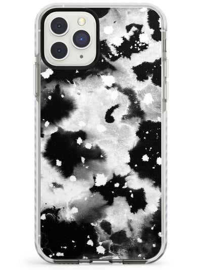 Black & White Acid Wash Tie-Dye Pattern Impact Phone Case for iPhone 11 Pro Max