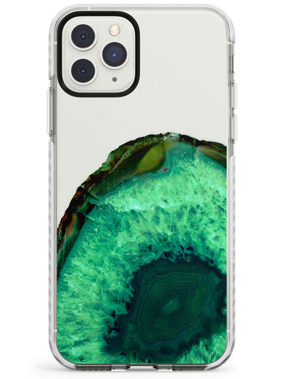 Emerald Green Gemstone Crystal Clear Design Impact Phone Case for iPhone 11 Pro Max