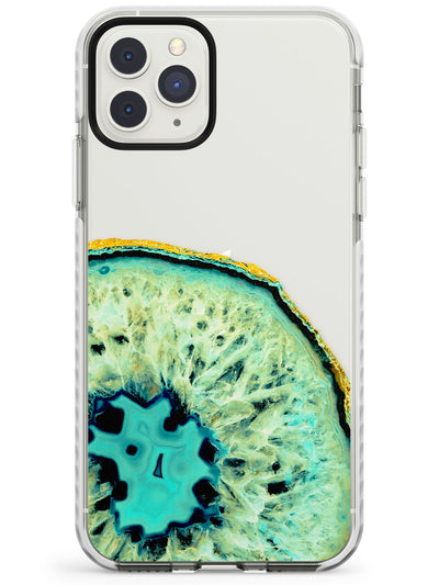 Turquoise & Green Gemstone Crystal Clear Design Impact Phone Case for iPhone 11 Pro Max