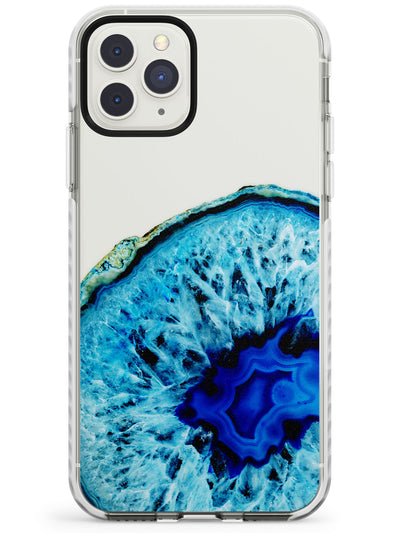 Bright Blue Agate Crystal Impact Phone Case for iPhone 11 Pro Max