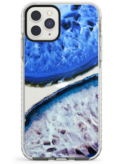 Blue & White Gemstone Crystal Clear Design Impact Phone Case for iPhone 11 Pro Max