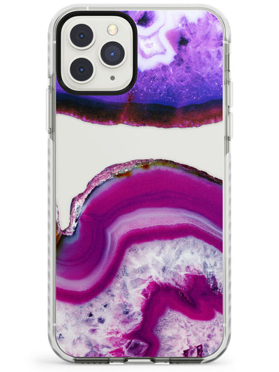Purple & White Gemstone Crystal Clear Design Impact Phone Case for iPhone 11 Pro Max