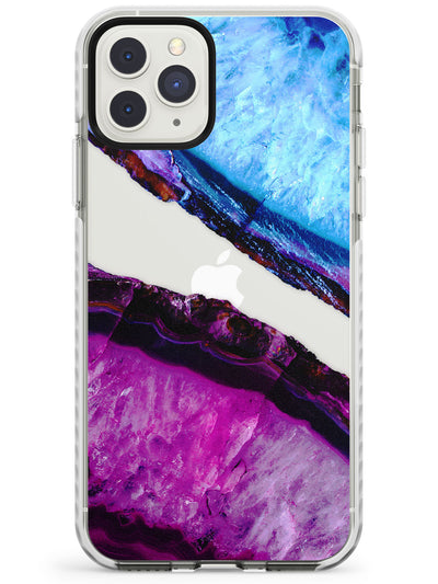 Violet & Turquiose Agate Crystal Clear Design Impact Phone Case for iPhone 11 Pro Max