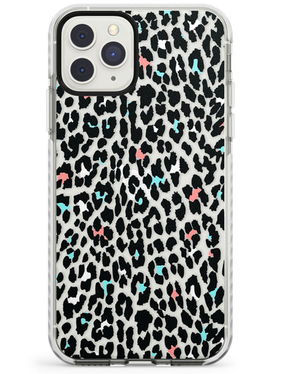 Blue and Pink Leopard Print - Transparent Impact Phone Case for iPhone 11 Pro Max