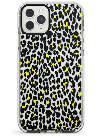 Yellow Leopard Print - Transparent Impact Phone Case for iPhone 11 Pro Max