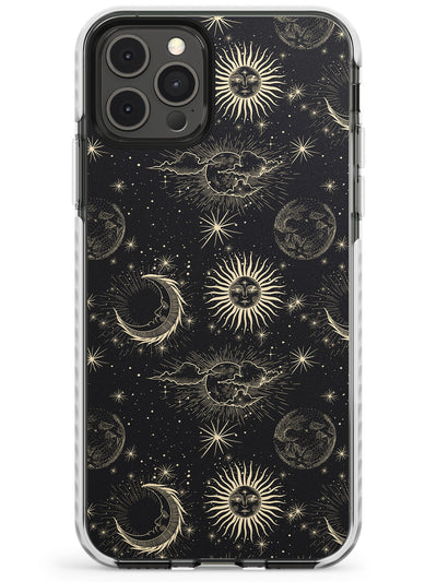 Large Suns, Moons & Clouds Slim TPU Phone Case for iPhone 11 Pro Max
