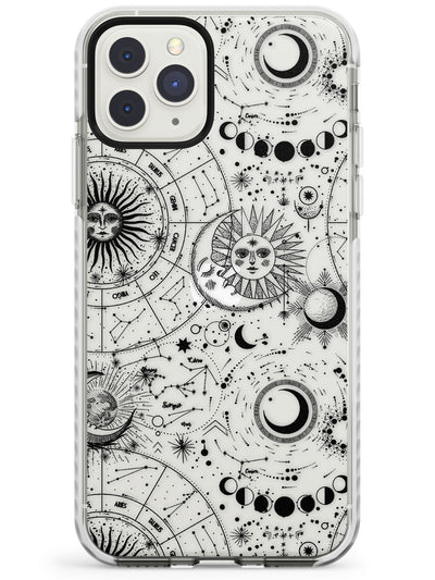 Suns, Moons, Zodiac Signs Astrological Impact Phone Case for iPhone 11 Pro Max