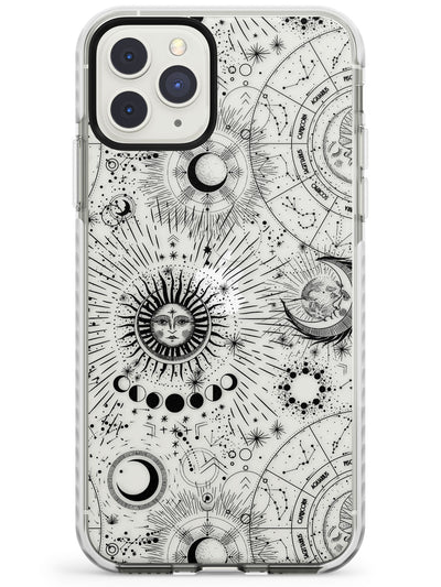 Transparent Suns & Zodiac Charts iPhone Case  Impact Case Phone Case - Case Warehouse