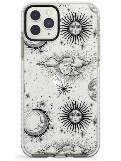 Transparent Suns, Moons & Clouds iPhone Case  Impact Case Phone Case - Case Warehouse