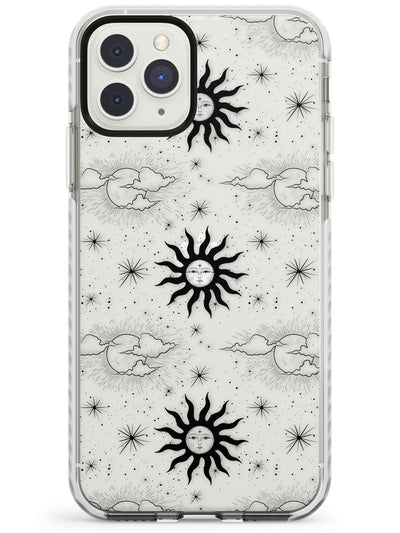 Suns & Clouds Vintage Astrological Impact Phone Case for iPhone 11 Pro Max