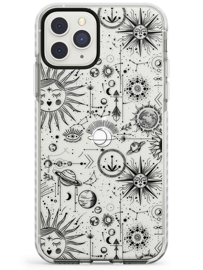 Suns & Planets Vintage Astrological Impact Phone Case for iPhone 11 Pro Max