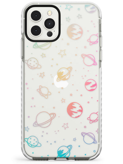 Cosmic Outer Space Design Pastels on Clear Impact Phone Case for iPhone 11 Pro Max