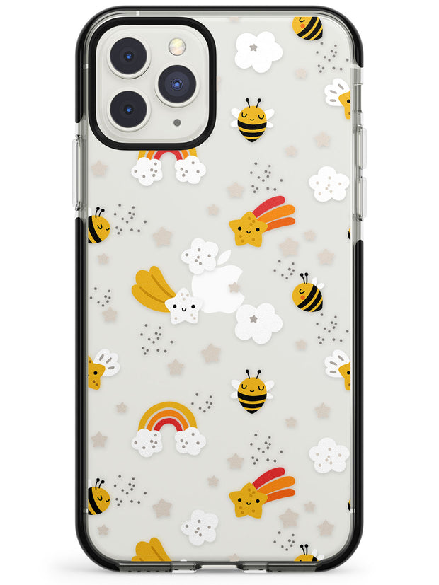 Busy Bee Black Impact Phone Case for iPhone 11 Pro Max
