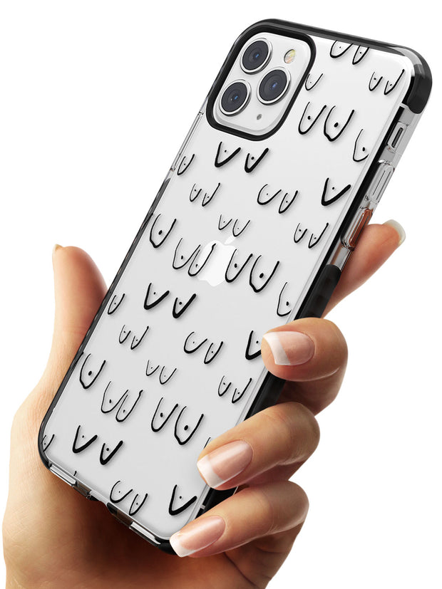 Boob Pattern (Black) Black Impact Phone Case for iPhone 11 Pro Max