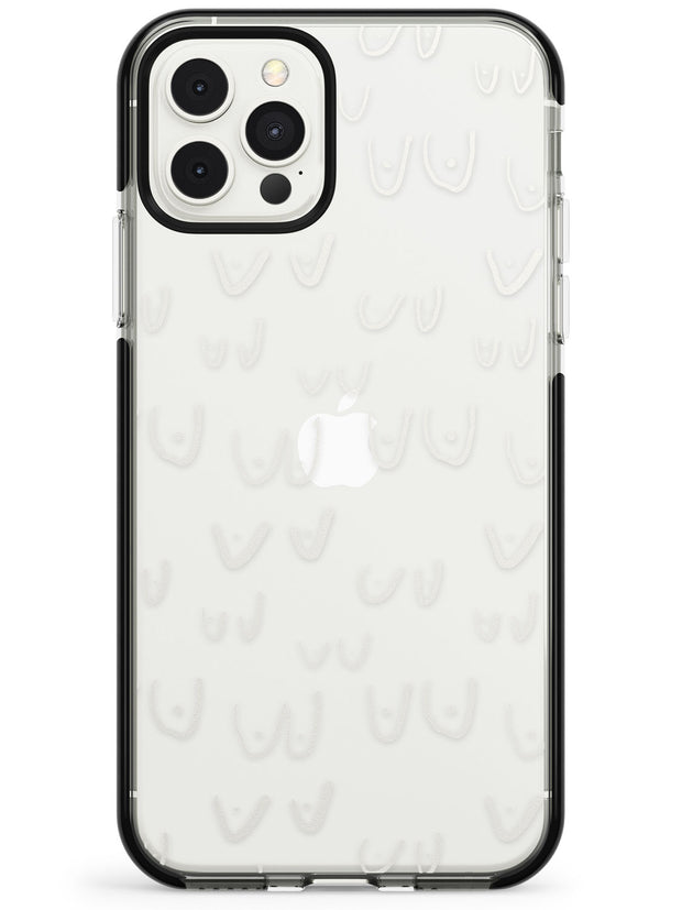 Boob Pattern (White) Black Impact Phone Case for iPhone 11 Pro Max