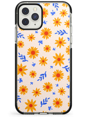 Cute Daisy Pattern - Solid iPhone Case Black Impact Phone Case Warehouse 11 Pro Max