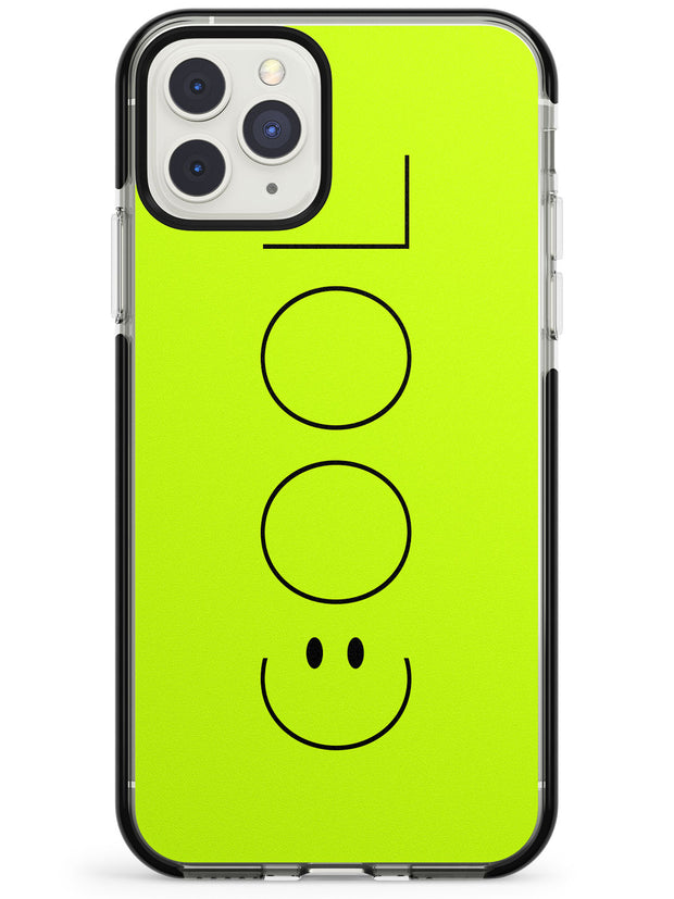 COOL Smiley Face Black Impact Phone Case for iPhone 11 Pro Max