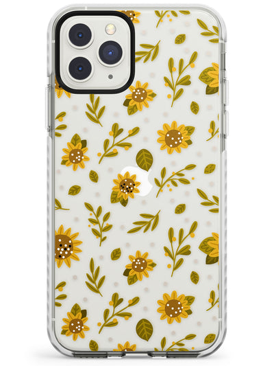 Sweet as Honey Patterns: Sunflowers (Clear) Impact Phone Case for iPhone 11 Pro Max