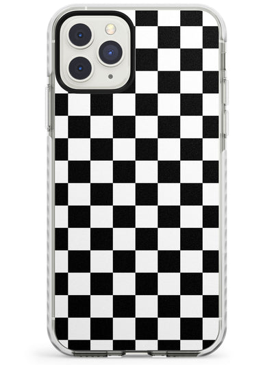 Black Checkered iPhone Case  Impact Case Phone Case - Case Warehouse