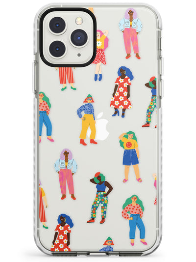 Girls Pattern Impact Phone Case for iPhone 11 Pro Max
