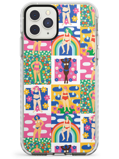 Body Positive Pattern Impact Phone Case for iPhone 11 Pro Max