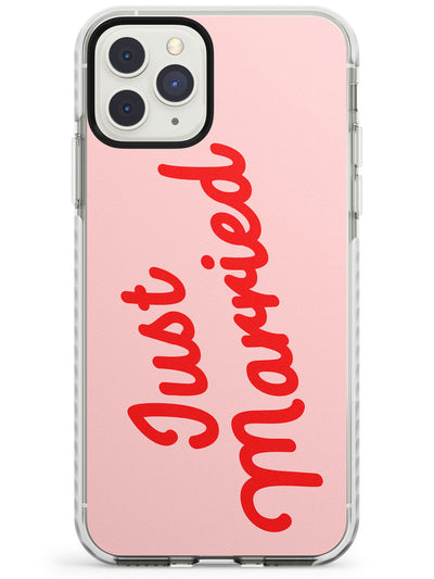 Just Married - Wedding Design Impact Phone Case for iPhone 11 Pro Max