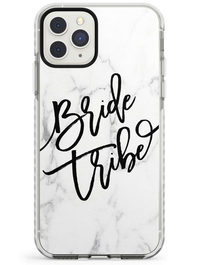 Bride Tribe Cursive on Marble Wedding Design Impact Phone Case for iPhone 11 Pro Max