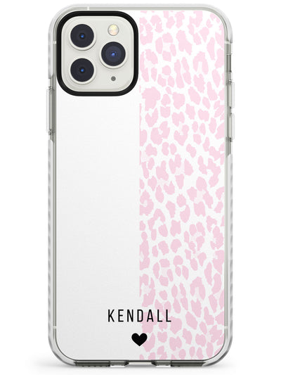 Custom Pink & White Leopard Spots iPhone Case  Impact Case Custom Phone Case - Case Warehouse