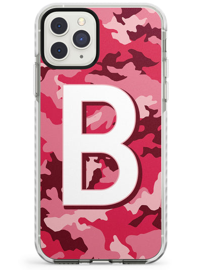 Pink & Maroon Camo Solid Monogram iPhone Case  Impact Case Custom Phone Case - Case Warehouse