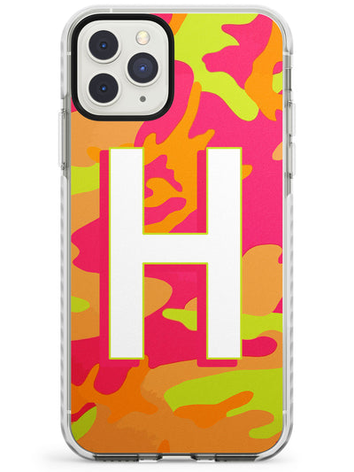 Bright Neon Camo Solid Monogram iPhone Case  Impact Case Custom Phone Case - Case Warehouse