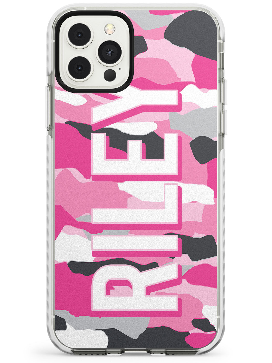 Pink & Grey Camo iPhone Case